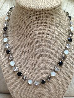 Onyx, Charcoal, Opal and clear. Team colors of the Oakland Raiders.