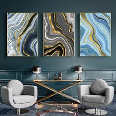 """""""Contemporary Art Golden Color Lines Abstract Painting Canvas Poster and Print Nordic Decoration Wall Art Picutre Home Decor"""" Painting Canvas, Canvas Prints, Wall Canvas, Canvas Poster, Color Lines, Golden Color, Abstract Wall Art, Contemporary Art, Tapestry"""