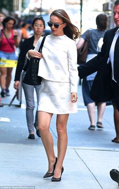 Natalie Portman Nailed it: The mother-of-one sported another winning look earlier in the day on Monday...