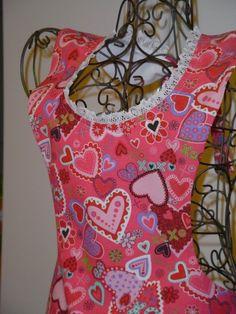 Lanetta - Valentine's Heart Bib-Apron handmade in Texas!