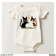Touch! Bodysuits by BATKEI #Zazzle #cat #猫 #ネコ #baby #suit