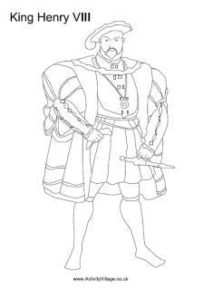History Colouring Pages