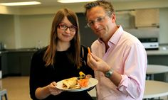 My cardiologist told me about this diet.  Several of his patients gave had success with it.  Put that carrot down … Michael Mosley with fasting researcher Dr Krista Varady. Photograph: Mike Garner/BBC