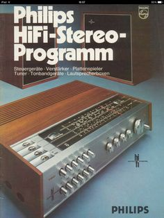 PHILIPS Deutschland HiFi-Stereo Programm 1970. Prominent im Vordergrund:der RH790