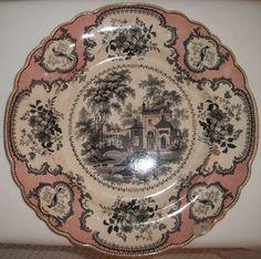 Vintage Antique Dinner Plate - Villa Stone Ware