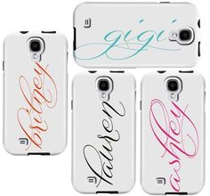 Find the best protection for your Samsung Galaxy phone with these personalized name phone cases.  Your mobile device will be perfectly accessorized with our preppy, modern and chic case. Free shipping over $75.