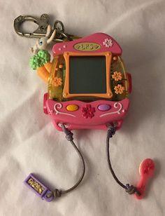 Littlest Pet Shop LPS Electronic Handheld Virtual Pet Bunny - Hasbro 2006 Tested