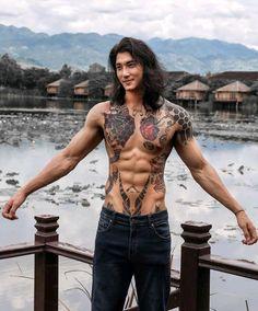 Asian Male Model, Male Models, Asian Men Long Hair, Korean Boys Hot, Handsome Asian Men, Handsome Guys, Inked Men, Japanese Men, Actors