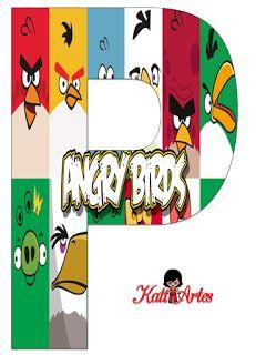 Lindo Alfabeto de Angry Birds.
