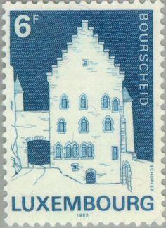Sello: Castle Restoration (Luxemburgo) (Castles) Mi:LU 1058,Yt:LU 1008