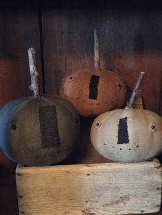 A personal favorite from my Etsy shop https://www.etsy.com/listing/241507673/set-of-3-pumpkin-heads