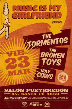 GigPosters.com - Holy Cows - Broken Toys, The - Tormentos, The