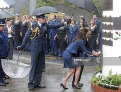 Prince William, Duke of Cambridge and Catherine, Duchess of Cambridge lay a wreath at the Remembrance Wall during a visit to the Royal New Zealand Police College on April 16, 2014 in Wellington, New Zealand. The Duke and Duchess of Cambridge are on a three-week tour of Australia and New Zealand, the first official trip overseas with their son, Prince George of Cambridge.  (Photo by Kevin Stent - Pool/Getty Images)