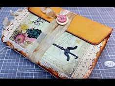 Aged Envelope Junk Journal using Butterfly Kisses from EVG - YouTube
