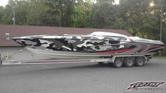 Winter blues? Check out this hot boat wrap in 3M IJ180Cv3 & 8518 by Razor Wraps, razorwrapsandgraphics.com Offshore Boats, Boat Wraps, Fast Boats, Nautical Design, Power Boats, Submarines, Water Crafts, Boating, Vehicles