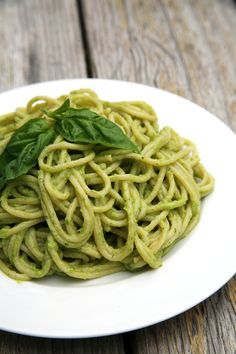 If you're craving comfort food, you've got to try this healthier version of pesto pasta. The secret ingredient? Avocado!