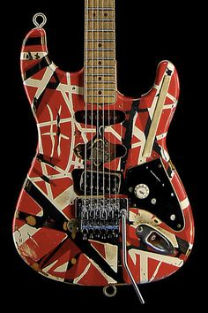 """While there are many famous guitar tones in electric guitar history, few are as noteworthy and immediately recognizable as Eddie Van Halen's legendary """"brown sound. Guitar Art, Cool Guitar, Famous Guitars, Fantasias Halloween, Best Guitarist, Eddie Van Halen, Music Aesthetic, Custom Guitars, Room Posters"""