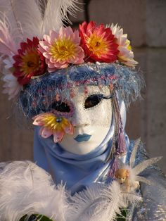 Flowers.  Venice Carnival 2014 by Lesley McGibbon