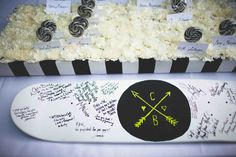 Guest Book on a skateboard we can hang in our home :) perfect