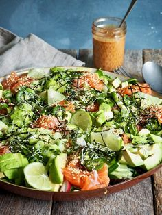 Asian Recipes, Healthy Recipes, Dinner Salads, Food Festival, Fish And Seafood, Main Meals, Cobb Salad, Tapas, Sushi