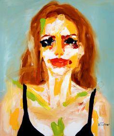 "Saatchi Art Artist: Neal Turner; Oil 2011 Painting ""Portrait d'Angelina Jolie (Portrait of Angelina Jolie)"""