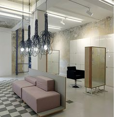 Most exciting hair salon in Sofia interior design ideas