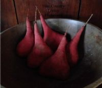 Primitives ~ Country ~ Colonial ~ Early American ~ Handcrafted Red Pears perfect for Cupboard Tucks or Bowl Fillers $3.50 each.