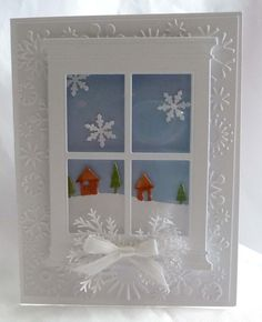 Looking Through the Window Christmas Card