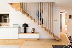 Elegant staircase with Scandinavian flair [Design: Martyn Clarke Architecture]