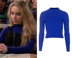 Girl Meets World: Season 2 Episode 25 Maya's Blue Ribbed Sweater