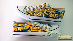 Minions canvas shoes handpainted low tops