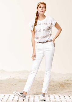 Angels Cici Jeans ♥ Lieblingsbegleiter für Fashion Angels ♥ präsentiert sich in zeitlosem weiß Denim und bester Verarbeitung. Der schmale Beinverlauf vermitteln hier beste Kombinationsmöglichkeiten. Jetzt bei Jeans-Meile bestellen!