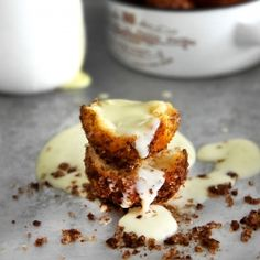 No-fry donut holes rolled in browned butter and cinnamon/allspice ...
