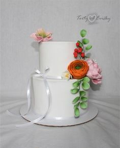 With flowers... by Cakes by Evička