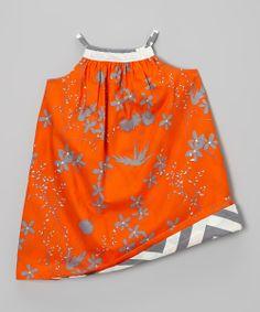 Love this Llum Sunset & Asphalt Reversible Yoke Dress - Infant, Toddler & Girls by Llum on #zulily! #zulilyfinds