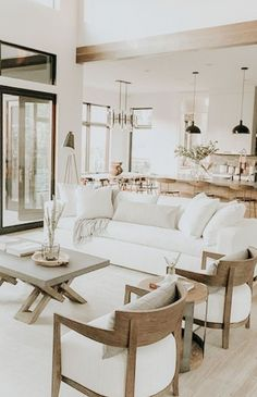 Great White Sofa Living Spaces 51 In Home Design Ideas by White Sofa Living Spaces : Resume Living Room Sofa, Living Room Interior, Home Living Room, Home Interior Design, Living Room Designs, Living Room Decor, Living Spaces, Interior Plants, Living Room Inspiration