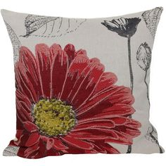 Flower Emboridery with Feather Filled Polyester Throw Pillow Reviews ($46) ❤ liked on Polyvore featuring home, home decor, throw pillows, polyester throw pillows, flower throw pillow, flower home decor, flower stem and feather filled throw pillows