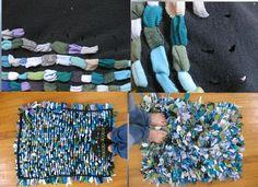t-shirt tutorial alfombra peluda