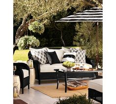 Outdoor look for patio area - from Pottery Barn