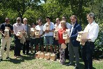 Colocación de un centenar de cajas nido en el jardín de El Altillo de Jerez de la Frontera.