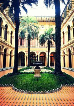 """""""Casa Rosada"""" - Casa de Gobierno,.Patio de las palmeras. Buenos Aires, Argentina"""