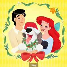 Tag someone to let them know they're your greatest gift 🎄🎁 We're counting down to the holidays with Check our insta story… Deco Disney, Disney Princess Ariel, Disney Fan Art, Disney Princesses, Tinkerbell Disney, Disney Artwork, Mermaid Disney, Punk Princess, Disney Style