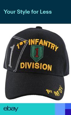 b7cbcf040388e US ARMY 1ST INFANTRY DIVISION CAP HAT BLACK