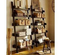 Studio Wall Shelf #potterybarn.  Idea for Master Bedroom wall