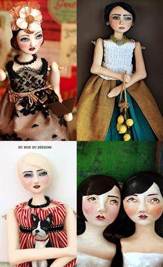 Art Dolls by Du Buh Du Designs: Gift Idea: Photo Coasters Image Mix, Chiffon Wedding Gowns, Frida Art, Photo Coasters, Photo Transfer, Fashion Figures, Doll Shop, Satin Gown, Doll Repaint