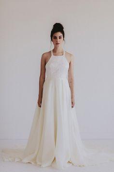 Chantel Lauren REMINGTON    Hand painted wedding gown