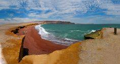 There's a rare red beach at the Paracas National Reserve that you need to see to believe.   26 Fantastic Reasons To Pack Your Bags And Visit Peru Right Now