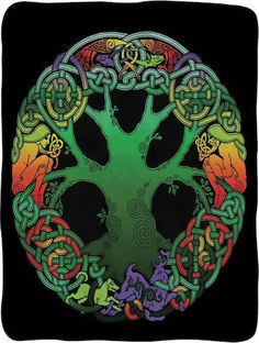 "Tree of Life Fleece Blanket Wrap yourself up in this Anne Weller Open Circle Celtic Tree of Life Super Soft Fleece Throw Blanket. This comfy blanket measures a sweet 45"" x 60"" . Wrap it around your body or hang it on a wall as a tapestry.  Use it at concerts or in your dorm room. Makes a great gift! #sunshinedaydream #hippieshop"