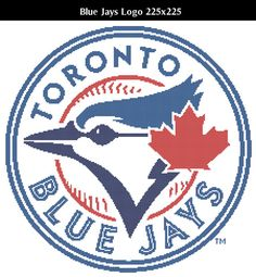 Toronto Blue Jays Logo -- Counted Cross Stitch Chart Patterns, 4 sizes!