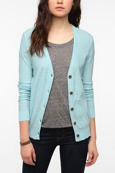BDG Drop Stitch Classic Cardigan  #UrbanOutfitters